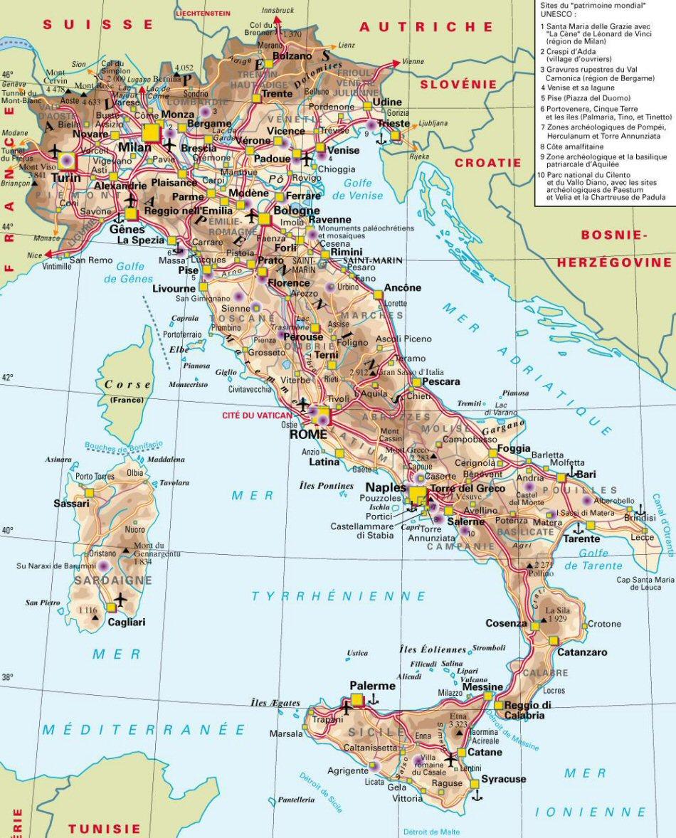 Camping Italie Bord De Mer Carte – Gite Marin